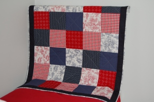 """Custom Playmat """"Red and Navy"""""""